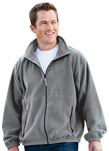 Inner Harbor Adult Poly Micro-Fleece Full-Zip Jacket (Foxy Grey) (S) Adult Micro Poly Pullover Jacket