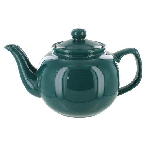 EnglishTeaStore Brand 2 Cup Teapot - Hunter Green Gloss Finish