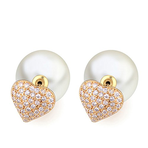 [Vintage Pearl Earring AAA Zirconic Stud Earrings] (Homemade Costumes Teenage Girls)