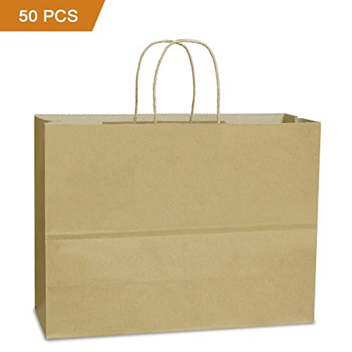 Where to find brown shopping bags with handles 16?