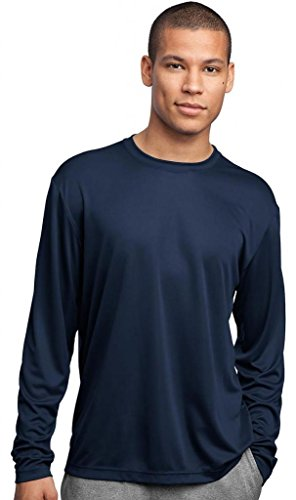 Sport-Tek Herren Asymmetrischer Langarmshirt Gr. X-Large, Blau - True Navy