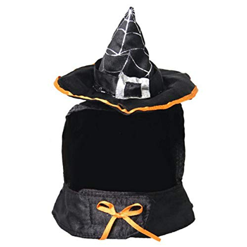 Price comparison product image Halloween Funny Cute Cat Pet Witch Wizard Headwear Hat Muffler for Festival Cosplay Party Costume Supplies
