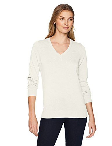 Amazon Essentials Women's Lightweight V-Neck Sweater, Oatmeal Heather, XX-Large