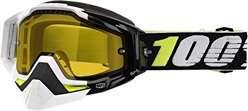 100% Racecraft Emrata Yellow Lens Snowmobile Goggles by 100 PERCENT