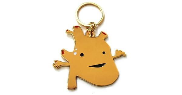 Amazon.com: Corazón de Oro Llavero por I Heart Guts.: Toys ...