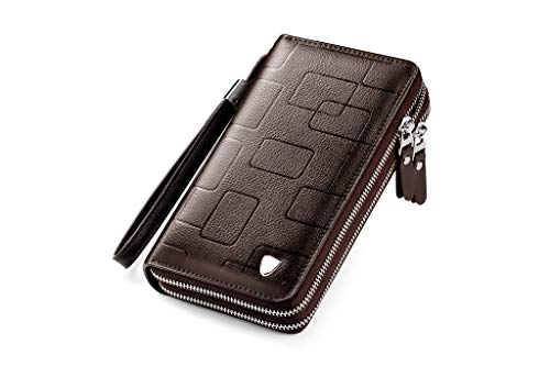 Large Hobo Accented - Hattfart Minimalist Leather Slim Wallet Blocking Medium Size