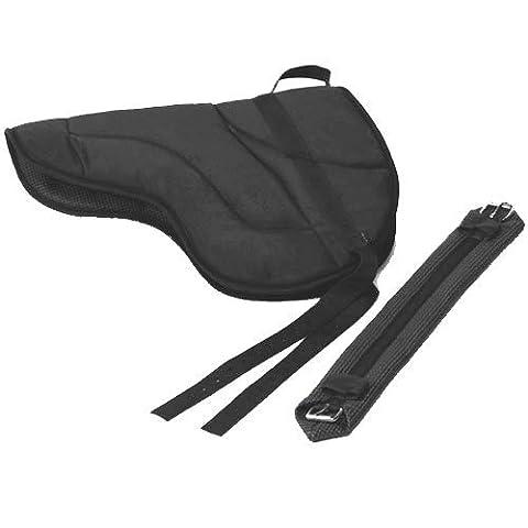 Best Friend English Style Bareback Pad, Black, Horse Size
