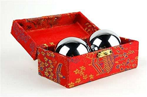 Big Save! JapanBargain S-3297, Baoding Balls Chinese Health Exercise Stress Balls Chrome Color