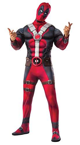 Marvel Men's Deadpool Deluxe Muscle Chest Costume
