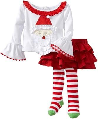 Mud Pie Baby-Girls Infant Santa Ribbon Skirt Set by Mud Pie