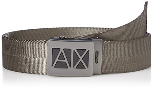 Armani Exchange Men's Adjustable Webbing Belt Accessory, -military green, - Exchange Shop Armani