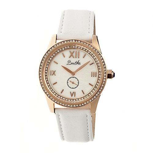 bertha-br5205-emma-ladies-watch-38mm-white-strap-mother-of-pearl-dial