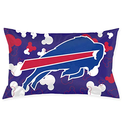 Jerrymoaus Buffalo Bills Cartoon Mouse, Zipper Pillowcase, Sofa Pillowcase, Office Pillowcase (20