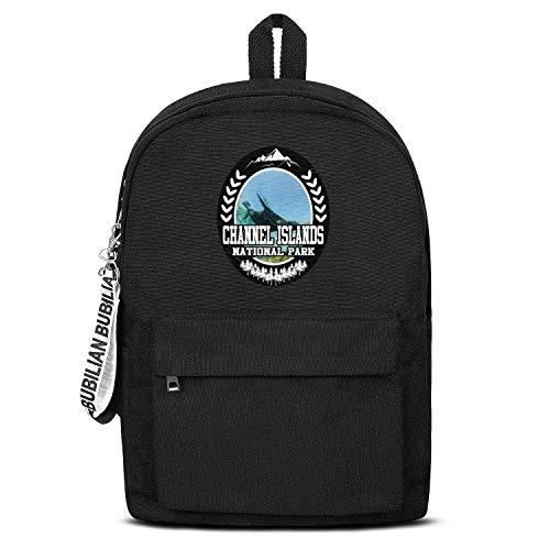 Channel Islands National Park Unisex Canvas Backpack Cute Satchel Travel Backpack For Girls Boys