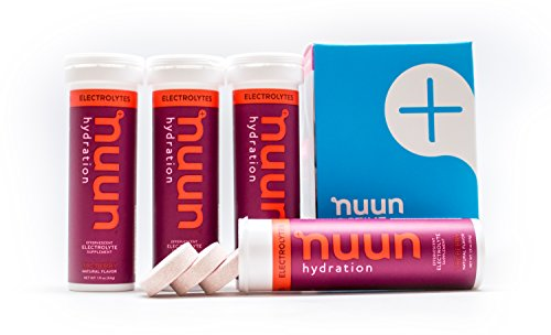 Nuun Hydration: Electrolyte Drink Tablets, Tri-Berry, Box of 4 Tubes (40 servings), to Recover Essential Electrolytes Lost Through Sweat