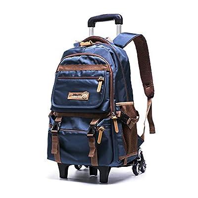 Meetbelify Trolley School Bags Rolling Backpack with 6 Wheels For Kids, Blue | Kids' Backpacks