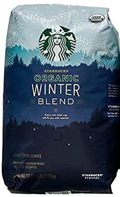 Starbucks Organic Coffee Winter Blend Whole Bean Medium Roast Arabica, 40 Ounce by Starbucks