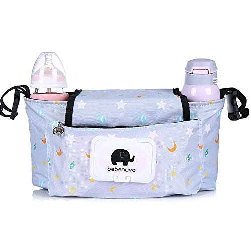 Hanging Bag Stroller Accessory Nylon Bottle Organizer BabyCarriage Storage BagDS