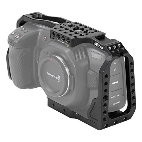 INITZE BMPCC 4K Camera Cage for Blackmagic Pocket Cinema Camera 4K-TP10