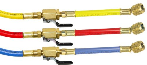 JB CCLV-6 Enviro-Safe Charging Hose 3pc Set- Ball Valve End-