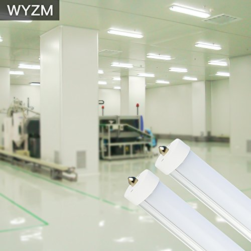 8ft LED Light Tubes for Fluorescent Fixtures,96'' F96T12 LED Tube,Replacement,120V and 277V Input, 5500K Daylight White,40Watt 4000LM Super Bright (4PCS 5500K Daylight White) by WYZM (Image #7)