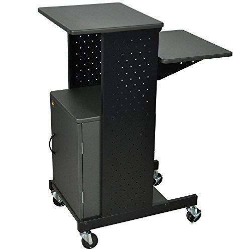 TableTop King PS4000C Mobile Presentation Stand with Locking Cabinet by TableTop King