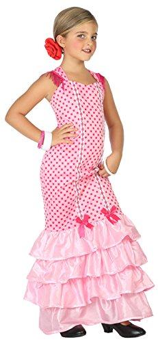 Atosa-39392 Disfraz Flamenca, Color Rosa, 7 a 9 años (39392)
