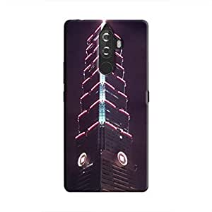 Cover It Up - The Red Neon Tower K8 Note Hard Case