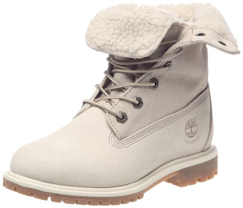 Botas Blanco Fold Mujer Teddy Do Fleece Timberland Para fnPwvqICx