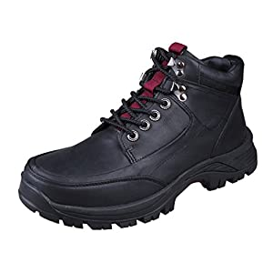 Modern Fantasy Mens Fur Leather Logger Outdoor Sport Shoes Climbing Boot Size 11 US Black