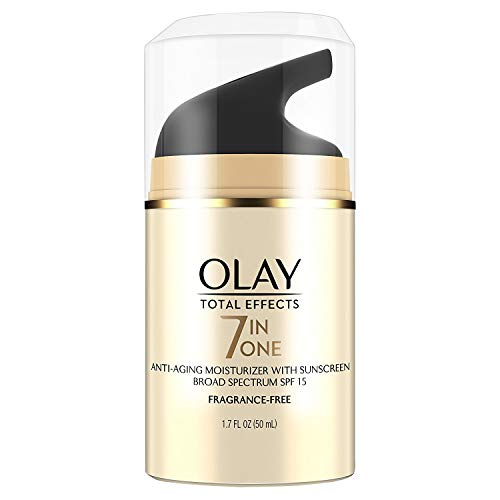 OLAY Total Effects 7-in-1 Anti-Aging Face Moisturizer with SPF 15, Fragrance-Free 1.7 oz