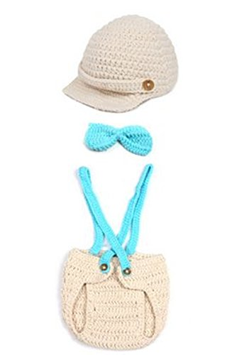 [Nodykka Newborn Baby Photography Knitted Props Boy Girl Photo Shoot Clothes Pants] (Rabbit Costume Pattern)