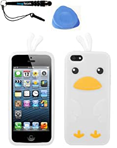 IMAGITOUCH(TM) 3-Item Combo APPLE iPhone 5 5S White Chick Pastel Skin Cover (Stylus pen, Pry Tool, Phone Cover)