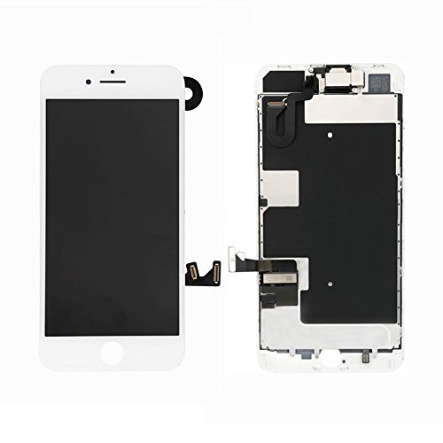 best website f5ffe af261 Full Screen Replacement LCD 3D Touch Assembly Front Camera Ear Speaker  Shield Plate with Frame Adhesive and Repair Tools for iPhone 8 Plus 5.5  inch ...