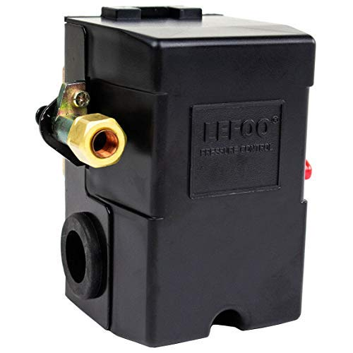 (Pressure Switch for Air Compressor 95-125 psi Single Port HEAVY DUTY 26A Replaces HUBBELL FURNAS SQUARE D SIEMENS SEARS DEWALT CRAFTSMAN BLACK MAX JENNY BLACK AND DECKER)