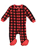 Leveret Kids Pajamas Boys Girls Footed Fleece