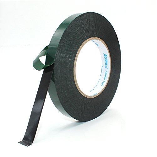 Mounting Tape, Atemto Double Sided Foam Tape 19.68mil X 0.59inch X 65ft Industrial Strength Sticky Adhesive Glue Heavy Duty Dustproof Waterproof (15mm)