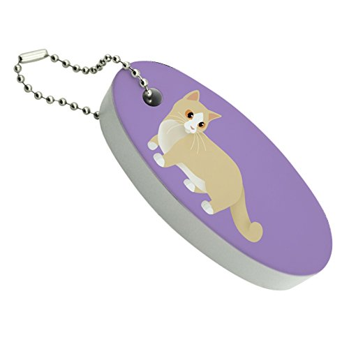 Graphics and More Munchkin Cat Floating Foam Keychain Fishing Boat Buoy Key Float