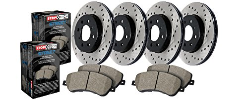 StopTech 936.40069 Street Axle Pack Front And Rear Incl. Drilled Rotors And Pads Street Axle Pack (Axle Rotor)