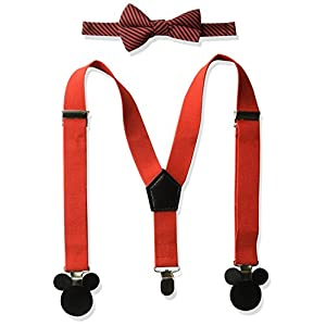 Disney Boys' Baby Mickey Mouse Bowtie & Suspender Set
