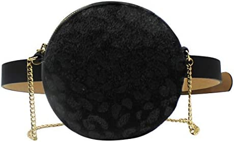 Round Waist Belt Bag Leopard Fanny Pack Women Shoulder Bag Crossbody Bag Women
