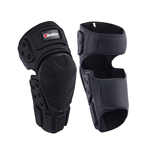 HEROBIKER Moto Knee Pads Black Protective Motorcycle Kneepad Motorcycle Motocross Bike Bicycle Pads Knee Pads Protective Guards (Sports Bike Knee Pads)
