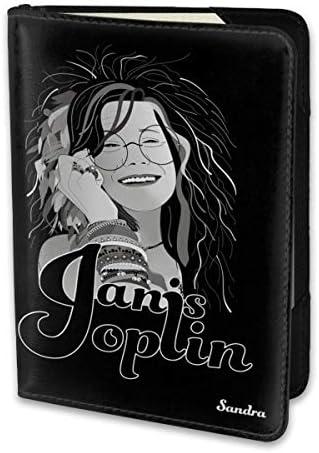 ジャニス・ジョプリン Janis Joplin パスポートケース メンズ 男女兼用 パスポートカバー パスポート用カバー パスポートバッグ 小型 携帯便利 シンプル ポーチ 5.5インチ高級PUレザー 家族 国内海外旅行用品