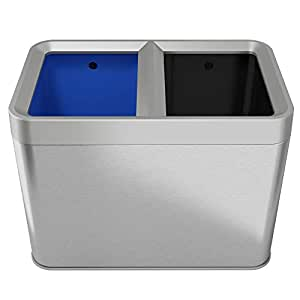 Amazon Com Halo Open Top Recycle Bin And Trash Can Combo