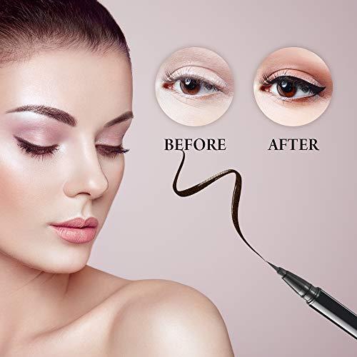 Waterproof Eyeliner Pen, Eyeliner Liquid Pen, Super Slim Long Lasting Liquid Eyeliner (Black)