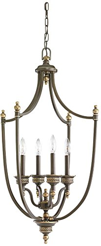 Sea Gull Lighting 51350-708, Laurel Leaf Chandelier Lighting, 4 Light, 0.24W, Bronze
