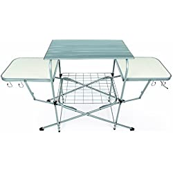 1 Of Camco Deluxe Folding Grill Table, Great For Picnics, Tailgating,  Camping, RVing And Backyards; Quick Set Up And Folds Down To Only 6 Inches  Tall For ...