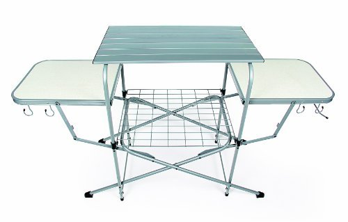 Camco Deluxe Folding Grill Table, Great for Picnics, Tailgating, Camping, RVing and Backyards; Quick...