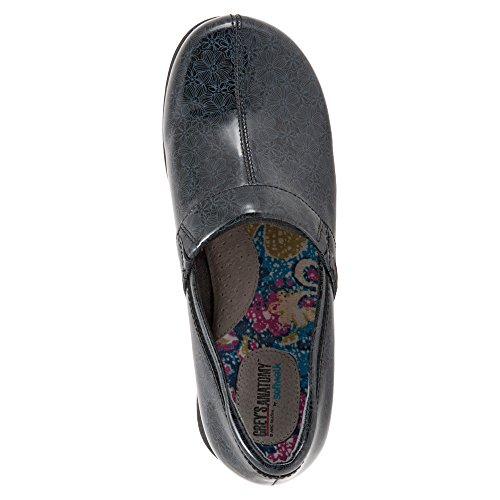Clog Dark Floral SoftWalk Meredith Leather Patent Women's Printed Blue qPtxUEw