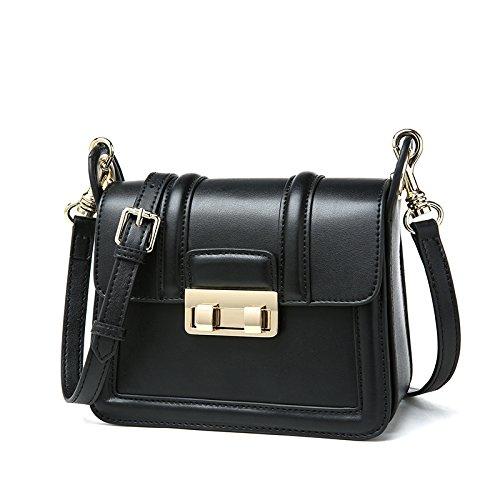 Shoulder square GMYAN fashion Satchel Women's simple small Black bag casual retro Single UzZUI